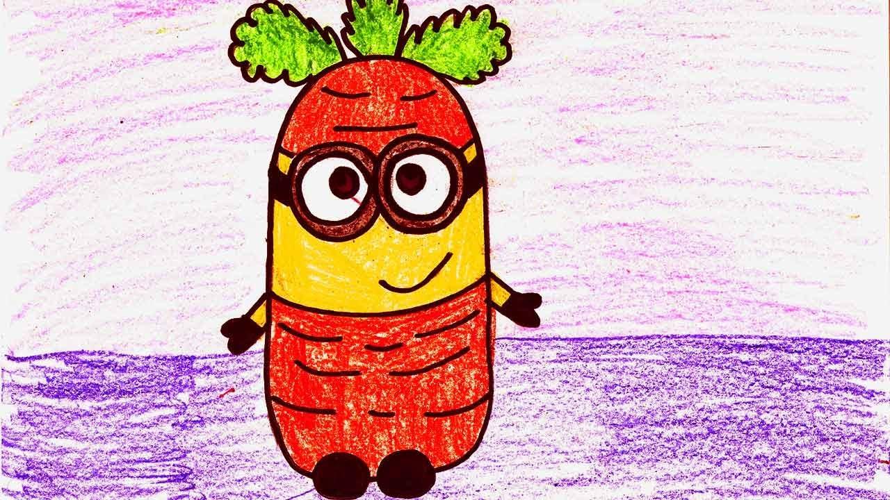 пошагово нарисовать миньона с бананом