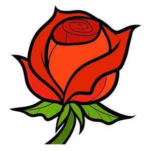 рисовать розу просто