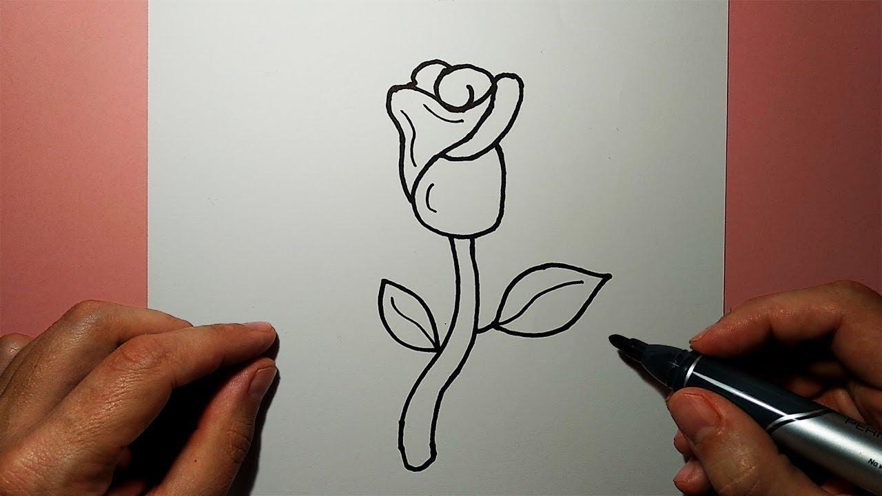 смотреть как рисовать розу