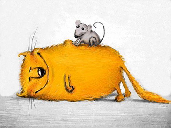 прикольные рисованные коты
