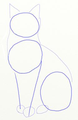 рисовать рисунок кота