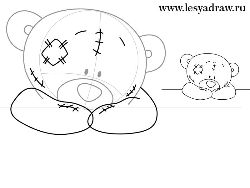 как нарисовать тедди поэтапно