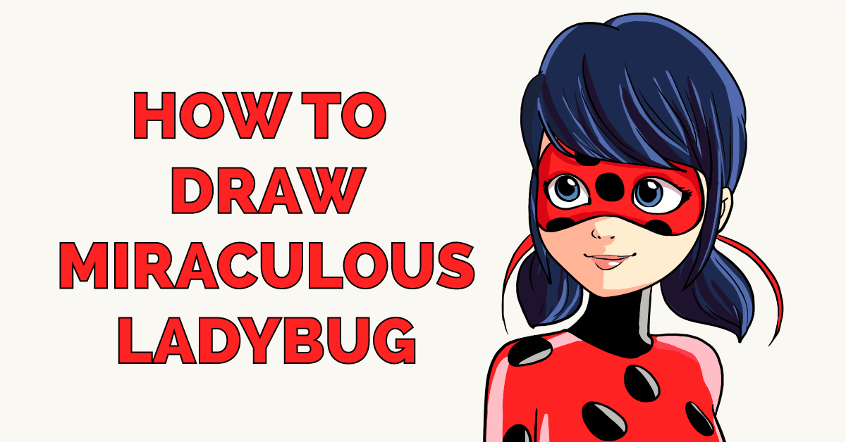 how to draw Miraculous Ladybug