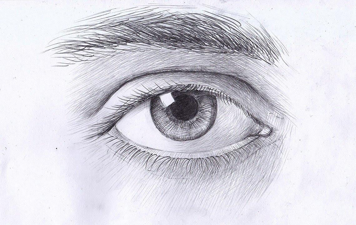 как нарисовать глаза карандашом