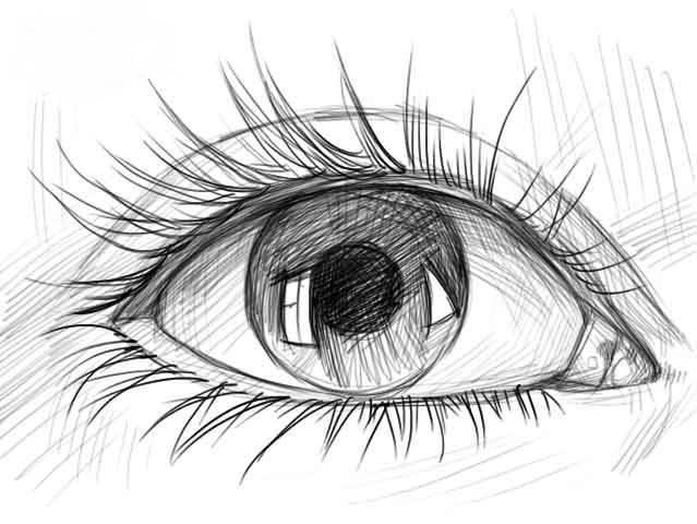 как красиво нарисовать глаза