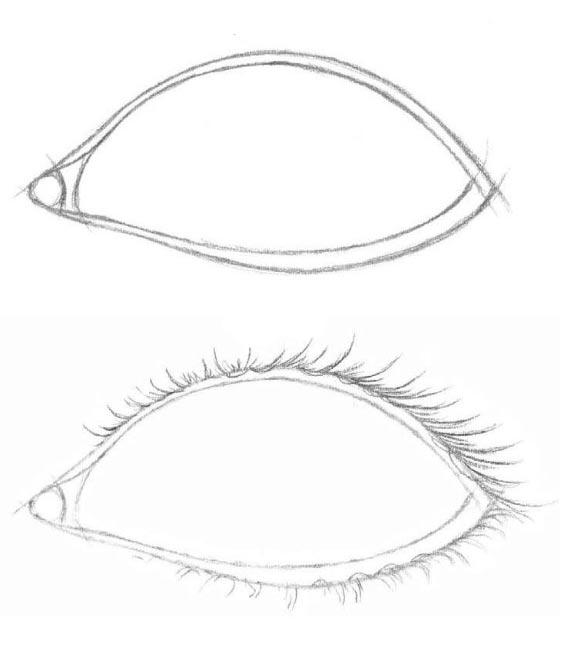 рисуем глаза поэтапно