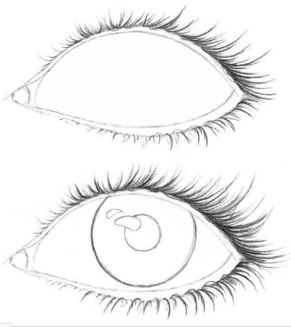 рисуем глаза поэтапно фото