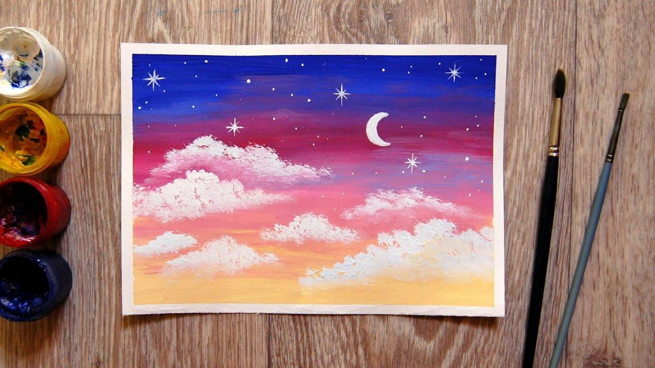 как нарисовать звездное небо