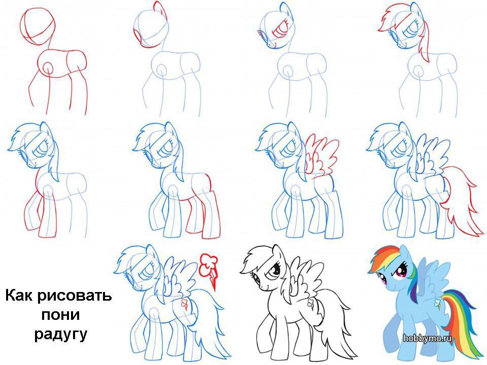 научится рисовать литл пони
