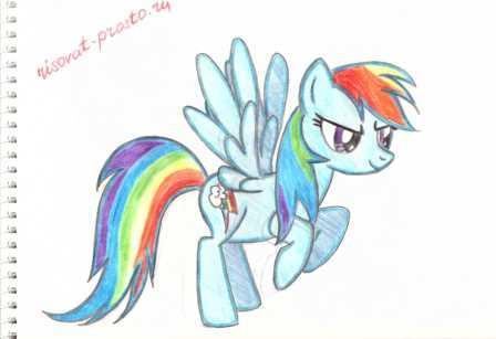 как нарисовать литл пони