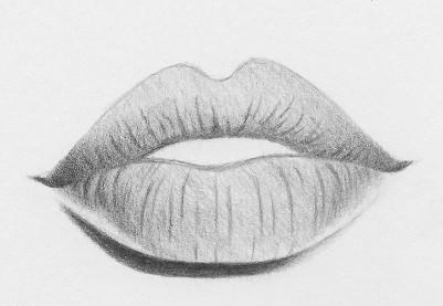 как нарисовать губы поэтапно