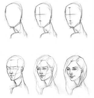 как нарисовать портрет поэтапно