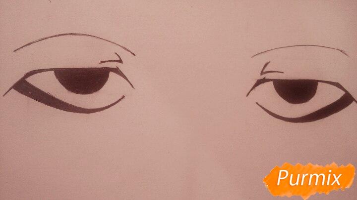 нарисовать глаза аниме поэтапно