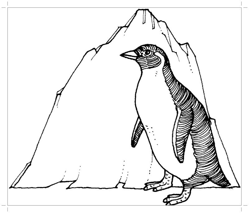 Как нарисовать черного пингвина