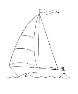 Как нарисовать яхту