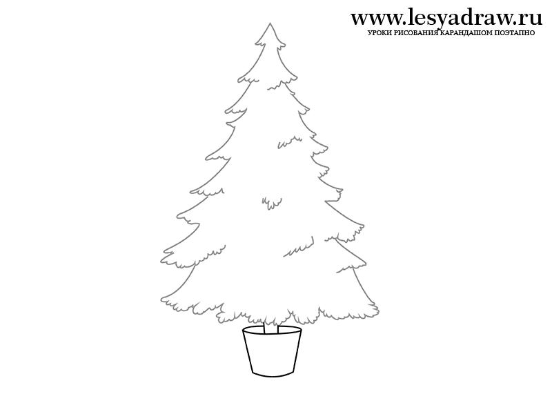 нарисовать рисунок елку