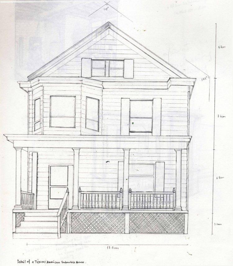 Как нарисовать многоэтажный дом поэтапно