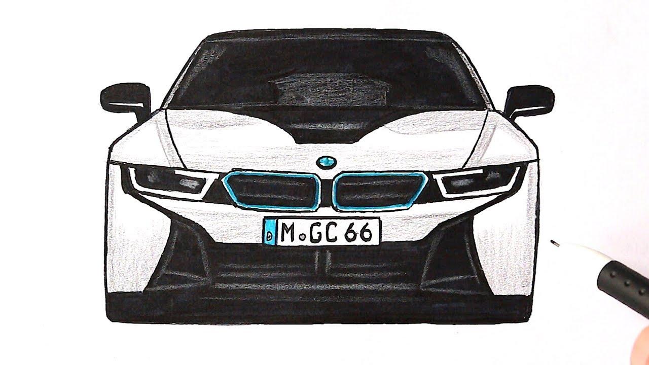 Как нарисовать машину бмв