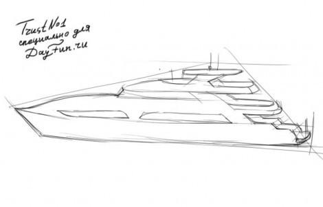 Как нарисовать яхту пошагово