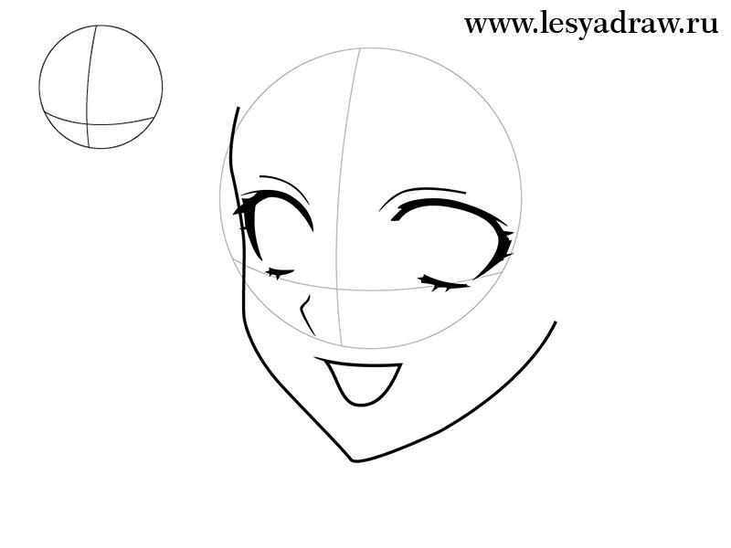 как нарисовать аниме девушку поэтапно для начинающих