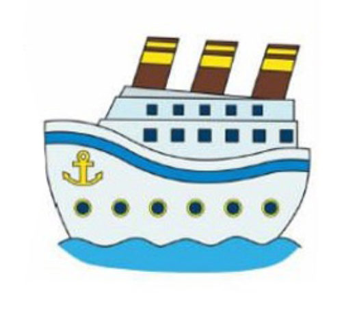 нарисовать трубы корабля