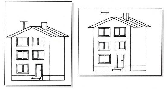 рисуем многоэтажный дом