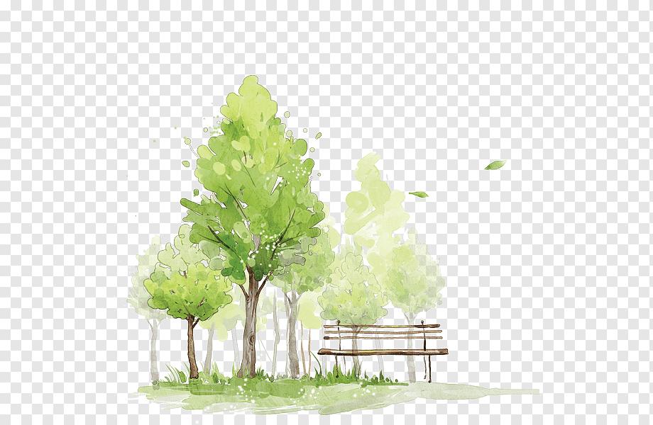 Как нарисовать зеленое дерево