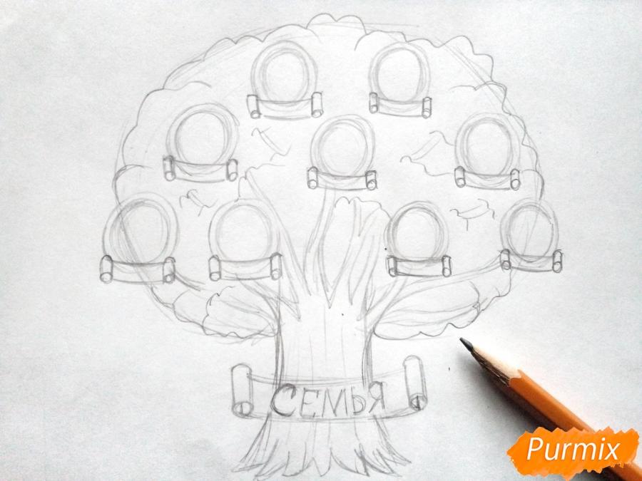 Как нарисовать генеалогическое дерево карандашом