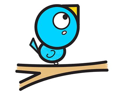 как нарисовать птичку