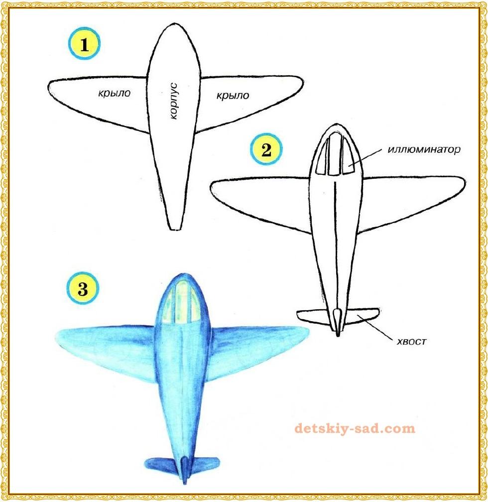 рисуем самолет -2