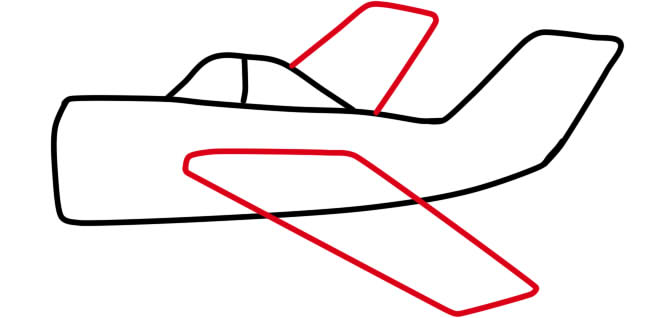 рисуем крылья самолета