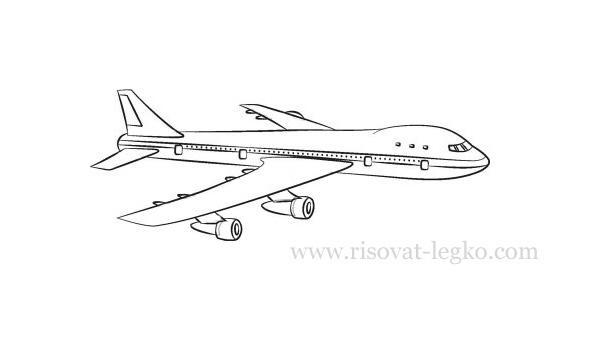 самолет карандашом