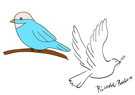 Поэтапно рисовать птицу детям