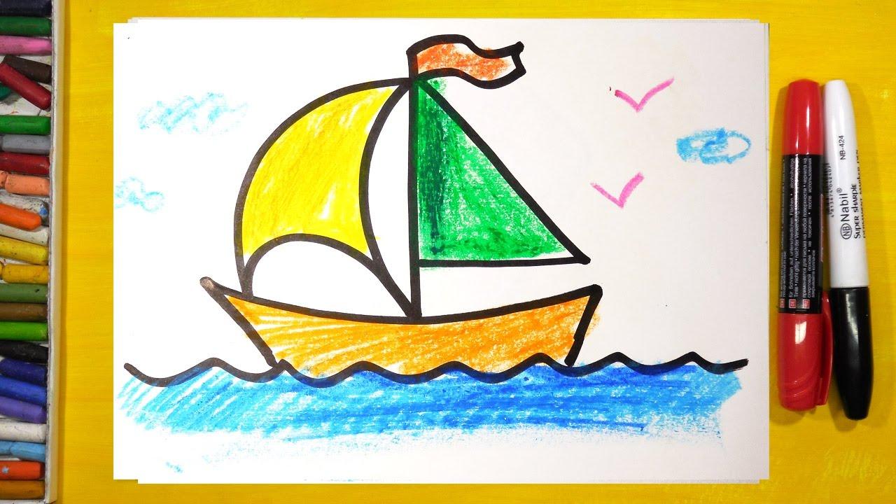 Как нарисовать корабль пошагово